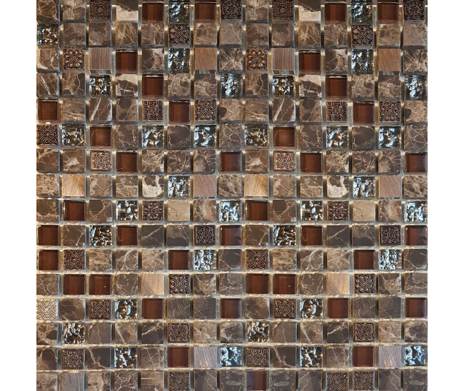 Mosaic Emperador/Metal/Glass MD018H