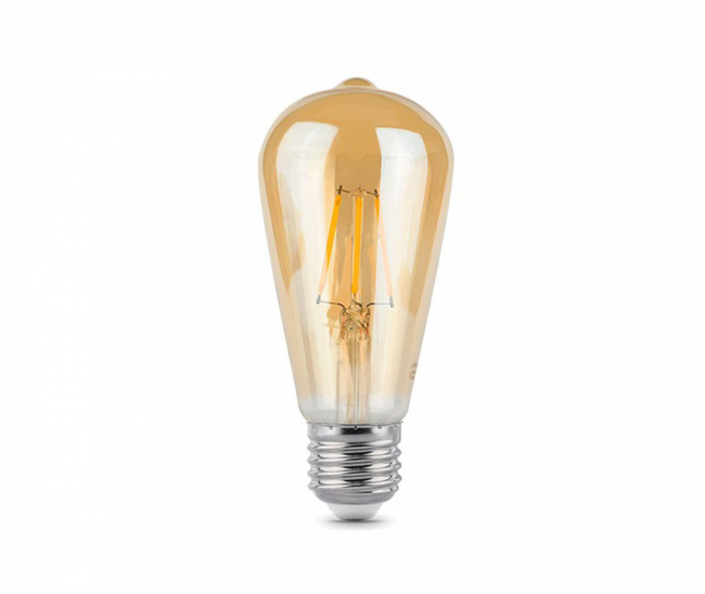 Лампа Gauss LED Filament ST64 102802006 Golden